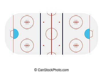 Template realistic hockey arena with lines and gates vector...