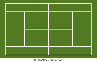 Template realistic tennis court with lines
