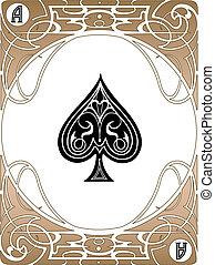 黑桃, 一點, 卡片
