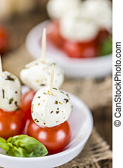 Tomato Mozzarella Salad with Basil - Fresh made Tomato...