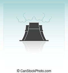 Nuclear power plant. Vector illustration.