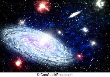 銀河, らせん状に動きなさい, 海原, スペース