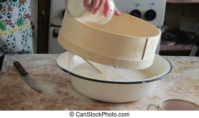 Cooking Dough Food on the Home Kitchen - Cooking Food at...