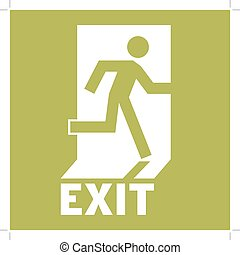 Emergency Exit Icon. Safe condition sign,Emergency exit....