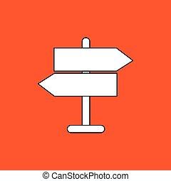 road sign design, flat illustration
