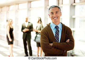Happy Business Man - A business man with a big smile