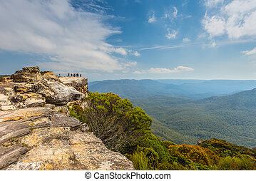 Lincoln's Rock in the Blue Mountains, NSW, Australia -...