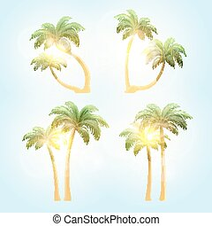 Set realistic trees with patches of sunlight
