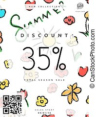 Discount 35 Discounts price tag Black Friday Clearance Sale...