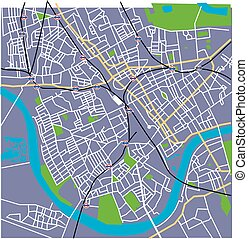 Fulham Heather Vector Streetmap - Vector Fulham London Map...