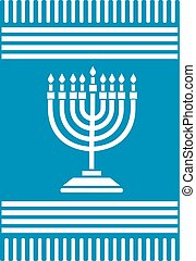Menorah - Jewish icon,Dreidel,Shofar,torah,david star,torah
