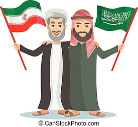 arab,Sunni and Shia - Arab,muslim,in keffiyeh and...