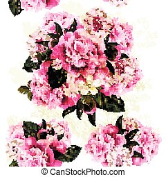 Fresh spring background with pink peony flowers.eps