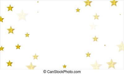 Abstract bright golden stars video animation