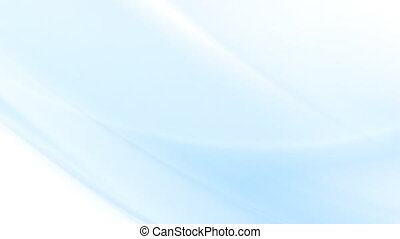 Abstract blue flowing waves video animation - Flowing...
