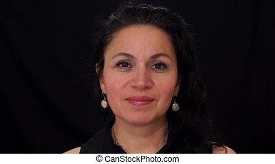 Portrait Middle Aged Female Latina