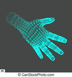 Human Arm Human Hand Model Hand Scanning 3d Covering Skin