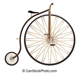 Realistic Penny Farthing - A realistic penny farthing vector...