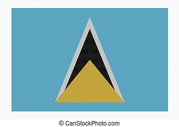 St. Lucia Flag White Dots - A retro looking st. lucia flag...
