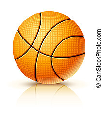 ball for playing basketball game illustration, isolated on...