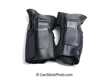wrist protectors - a pair of wrist protectors isolated on a...