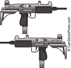 Uzi Gun Machine Metal vector