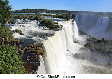Iguazu waterfall in South America