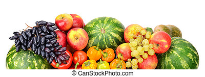 Collection of fruit and vegetables