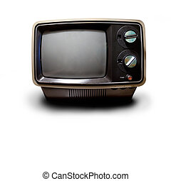 Retro TV - An old retro TV isolated on white with drop...