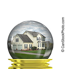 Real Estate Market Predictions - A housing crisis concept...