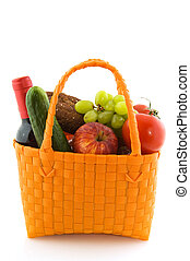 Shopping bag with daily food