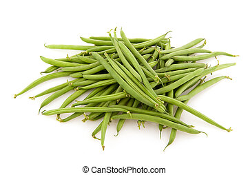 String beans as healthy vegetables isolated over white