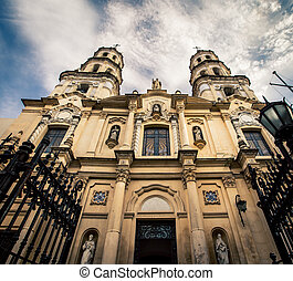 San Pedro Telmo church, - The facade of a Church in Buenos...