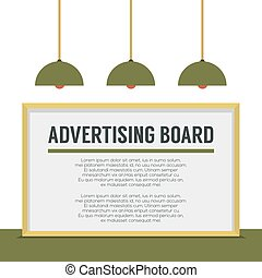 Blank Advertising Billboard.
