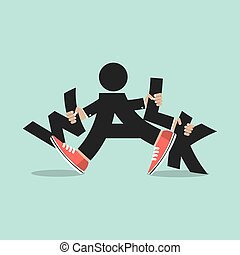 Walk With Legs Typography Design. - Walk With Legs...