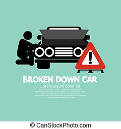 Broken Down Car Symbol.