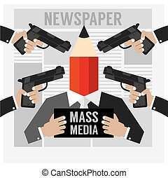 Mass Media Is The Hostage - Mass Media Is The Hostage Vector...