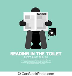 Reading in The Toilet Symbol. - Reading in The Toilet Symbol...