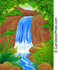 Water fall - Vector waterfall