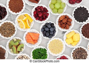 Super Food - Super food selection in porcelain crinkle bowls...