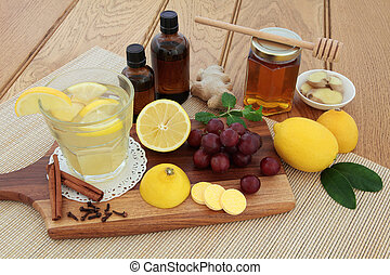 Cold Remedy Food and Drink - Cold remedies with cough...