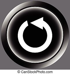 Icon black reset arrow - Icon the button with the restart...
