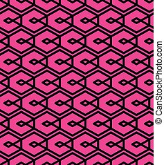 Seamless pattern with intertwine rhombs, colorful infinite...