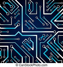 Circuit board futuristic cybernetic texture with sparkles,...