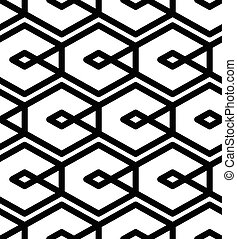 Black and white abstract textured geometric seamless pattern...