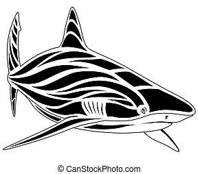 Shark, tattoo