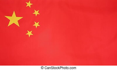 National flag of China moving in the wind