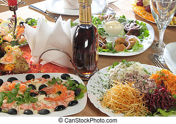 restaurant appetizers - alcohol and restaurant appetizers