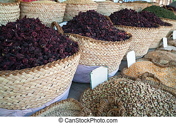 hibiscus tea and other food on sale - hibiscus tea and other...