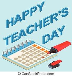 Teachers Day. Vector Illustration.